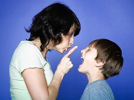 Реакция на плохое поведение ребенка