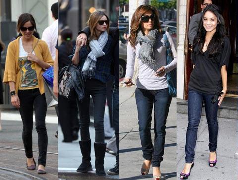 Модные джинсы скинни: с чем носить?