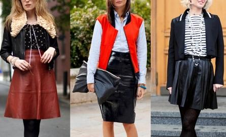 Как носить кожаную юбку
