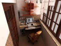 Делаем из балкона рабочий кабинет